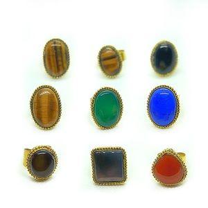 Beautiful bohemian antique stone rings